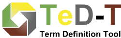 Logo TeD-T, the Term Definition Tool of the Data Foundation and Terminology Interest Group (DFT IG) of the Research Data Alliance (RDA).